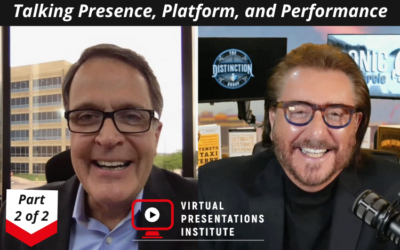 Part 2 of 2: The Art & Science of High Impact Virtual Presentation Delivery